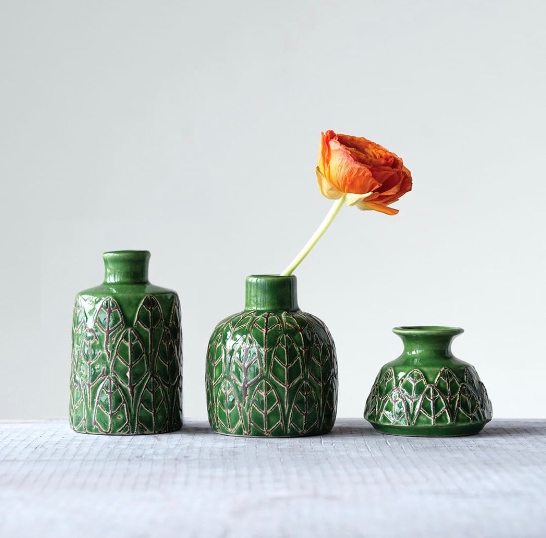 Green Leaf Vases