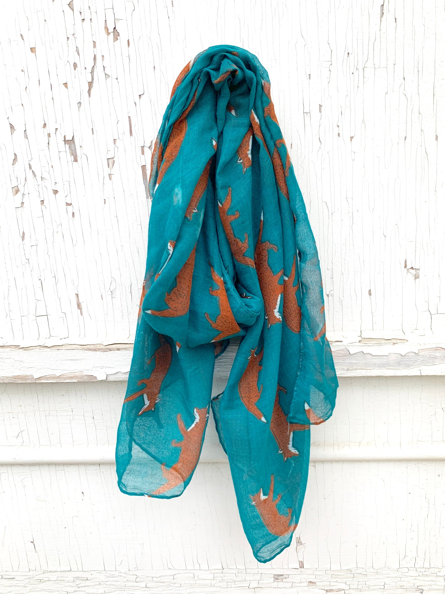 Teal Fox Scarf