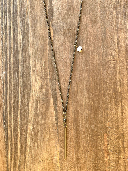 Stone + Bar Necklace