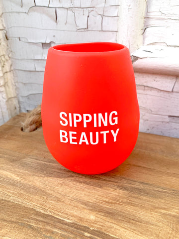 Sipping Beauty Silicone Wine Glass