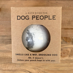 Dog People Grass Scented Bath Bomb