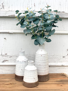 Lipton Whitewash Stoneware Vases *PORCH PICK-UP ONLY* UNABLE TO SHIP
