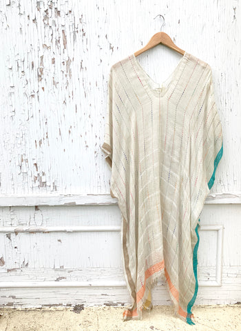 Sheer Rainbow Poncho/Coverup