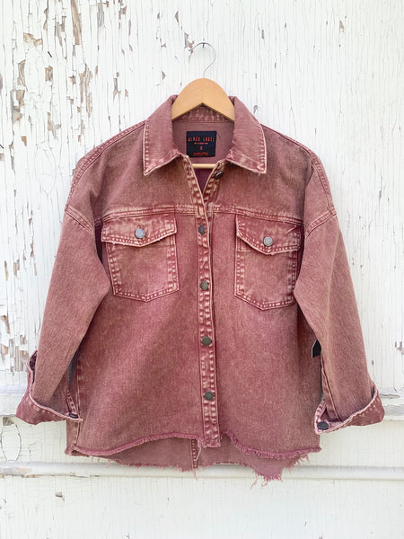 Rose Denim Jacket