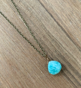 Summer Sky Blue Stone Necklace