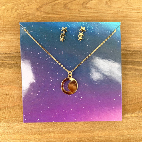Star Gazing Necklace + Earring Set