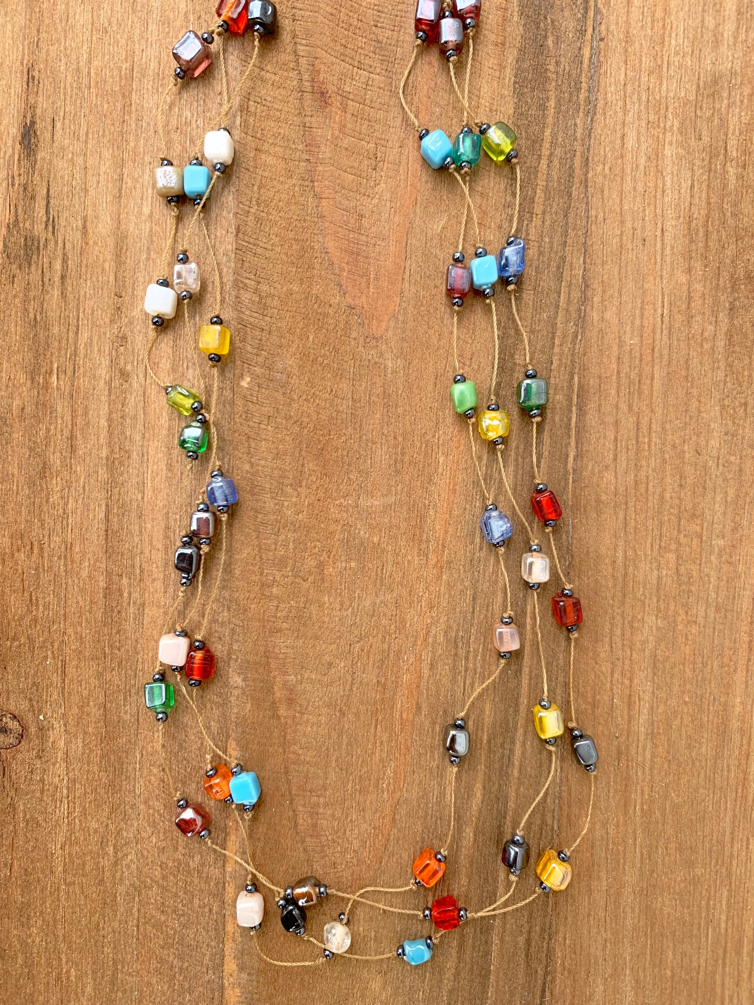 Mosaic Multi-Strand Necklace