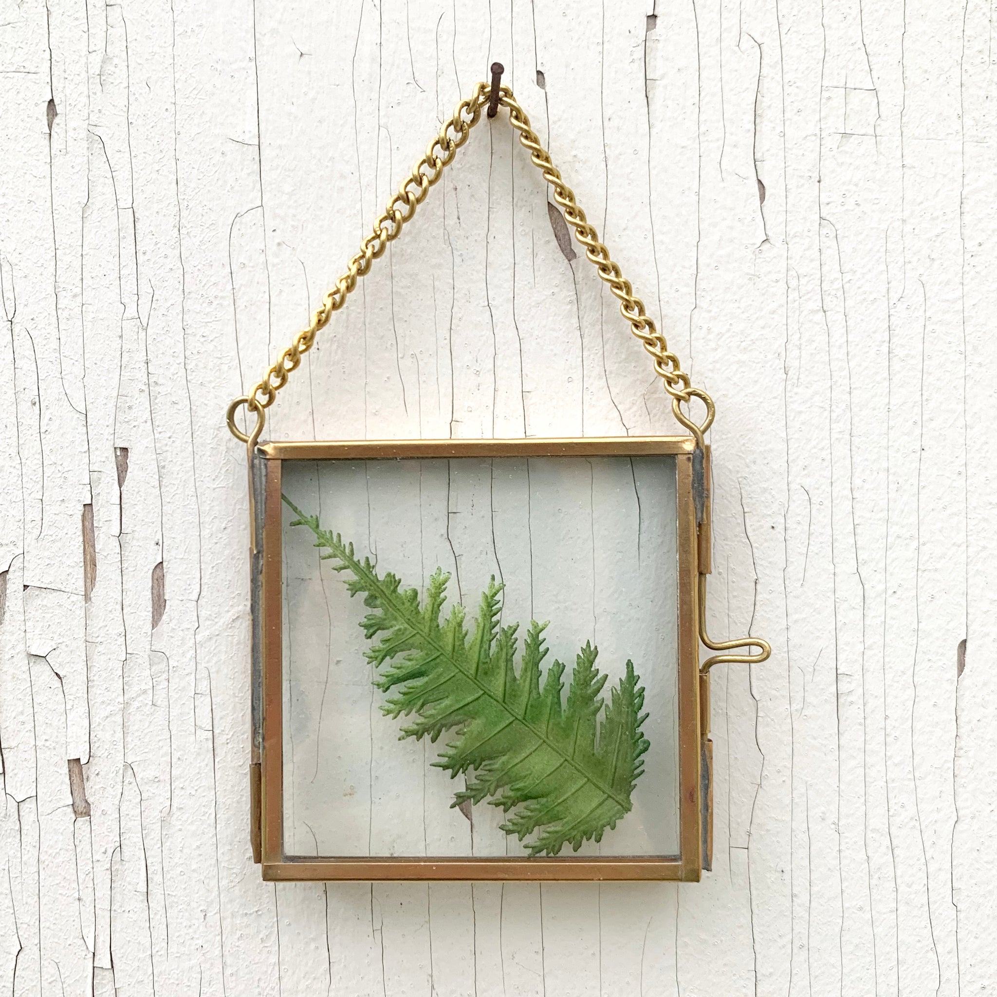 Mini Gold + Glass Hanging Frame