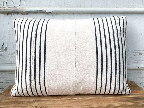 Natural Mudcloth Stripe Pillow