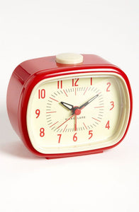 Retro Alarm Clock - Red, Green or Blue