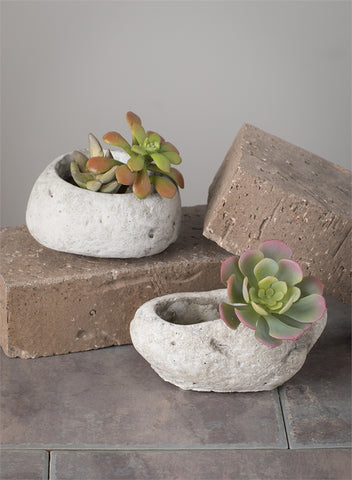 Oval Rock Planter