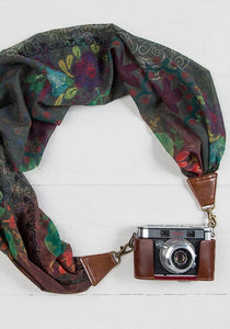 Floral Scarf Camera Strap