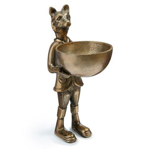 Standing Fox with Bowl