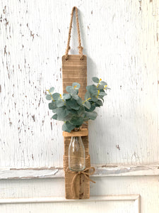 Vase On Wood - PORCH - SIDE PICKUP ONLY - CANNOT SHIP