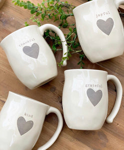 Endearing Heart Mugs