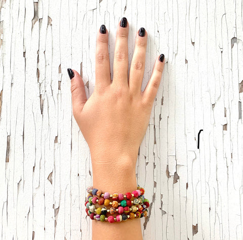 Kantha Beaded Bracelet