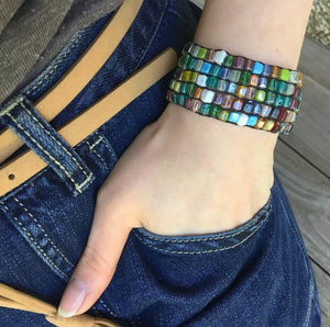 Mosaic Stretch Bead Braclet