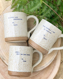 Speckle Quote Mugs
