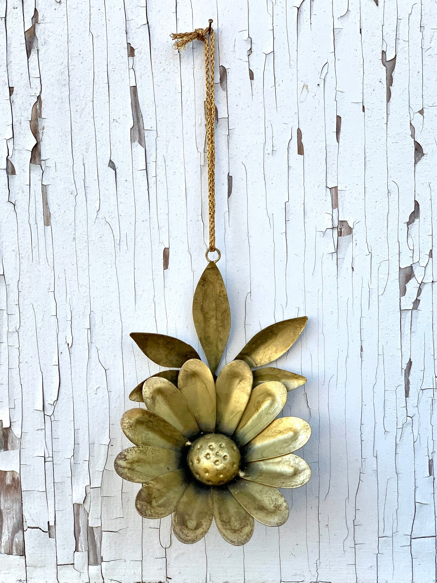 Gilded Wildflower Ornament