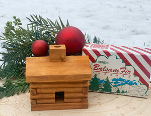 Balsam Fir Log Cabin Incense Burner