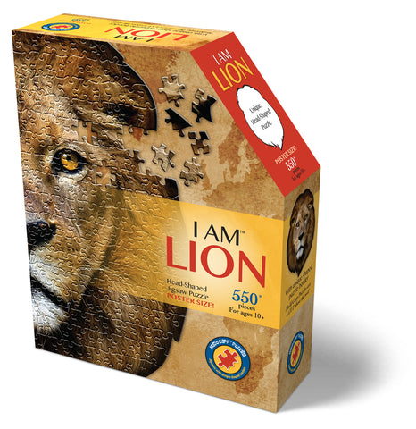 I AM LION  550pc Shaped Jigsaw Puzzle