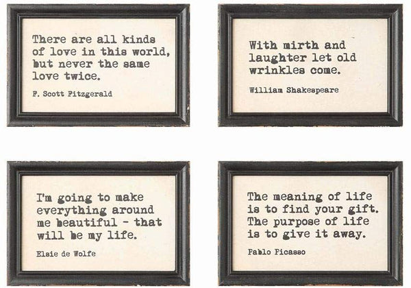 Wood Framed Quotes