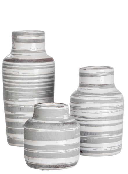Stripe Bottle Vases