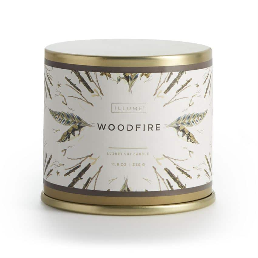 Illume Woodfire Vanity Tin Candle