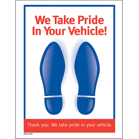 Floor Mat - Paper Footprint 2-Color - Red & Blue, 60#, Box of 500 - Independent Dealer Services