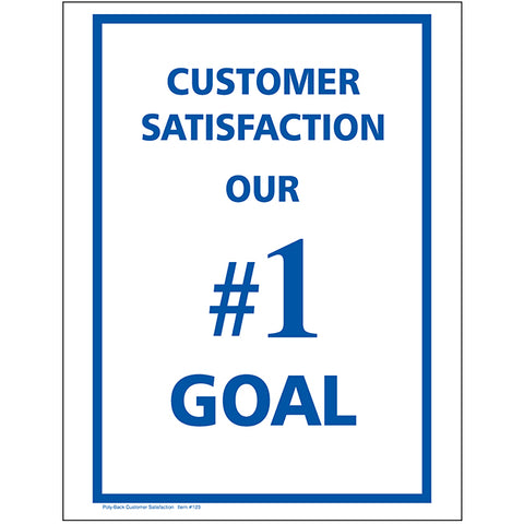 "Floor Mat - Poly Back 1 Color - Blue ""Customer Satisfaction"" Box of 500 - Independent Dealer Services"
