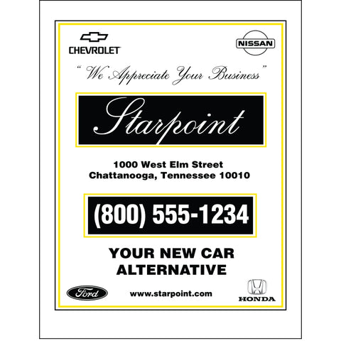 Floor Mat - Custom  Printed - Glossy Back - Qty. 500 - Independent Dealer Services