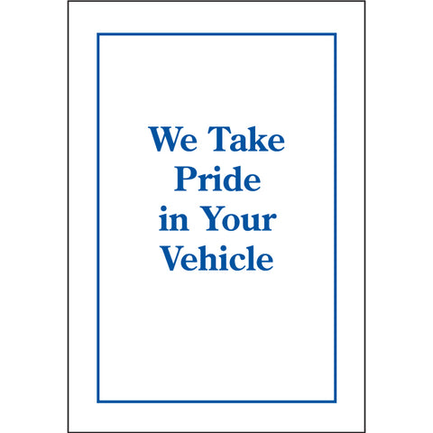 "Floor Mat - Standard Plastic (9943-02) - Printed, 17"" x 21"", Roll of 500 - Independent Dealer Services"