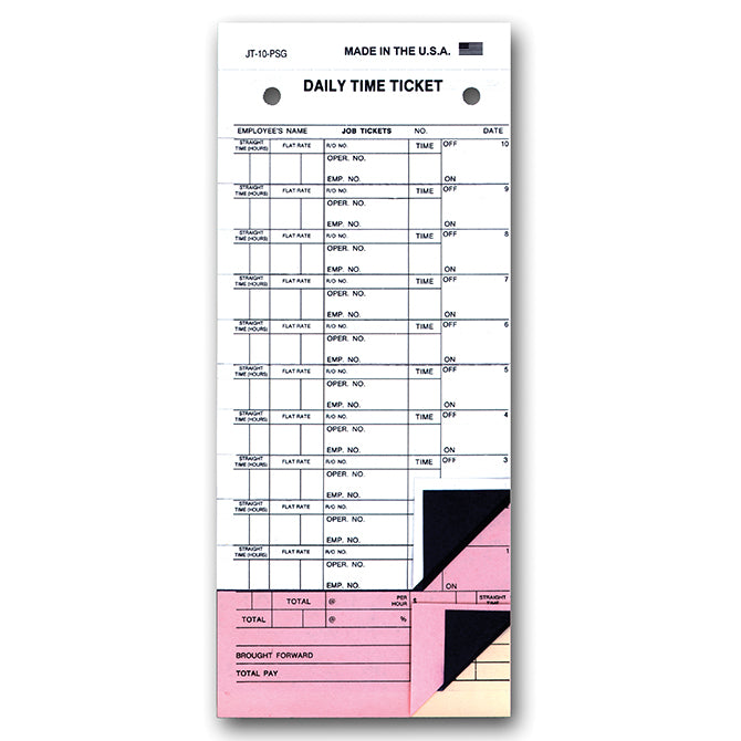 Job Time Ticket - JT-10-500-PSG - Peel & Stickty. 500 - Independent Dealer Services