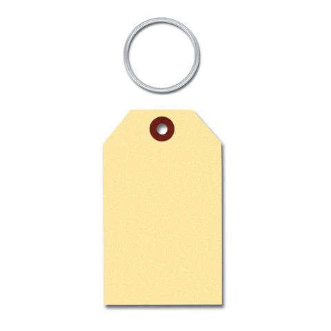 Manila Key Tags -  With Rings SEPARATE - Qty. 1000 - Independent Dealer Services