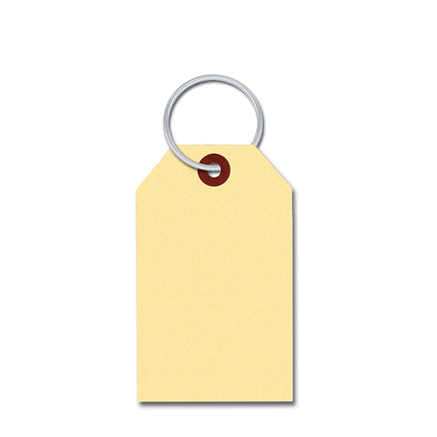 Manila Key Tags - With Rings INSERTED - Qty. 1000 - Independent Dealer Services