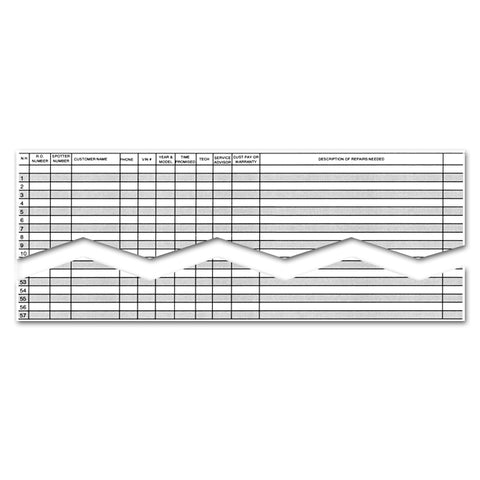 "Route Sheet - RS-57 - 57 Line, 17"" x 22"" 50 Per Pad - Independent Dealer Services"