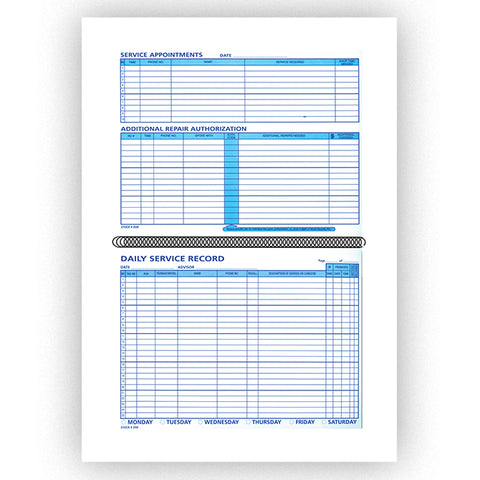 Daily Service Record Book - DSR - 50 Pages - Qty. 1 - Independent Dealer Services