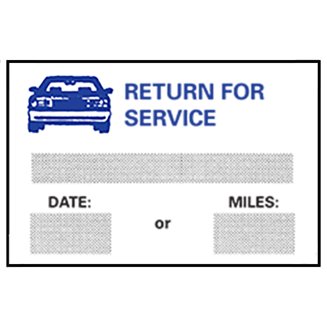 Static Cling Reminders - BOX of 100 - Independent Dealer Services