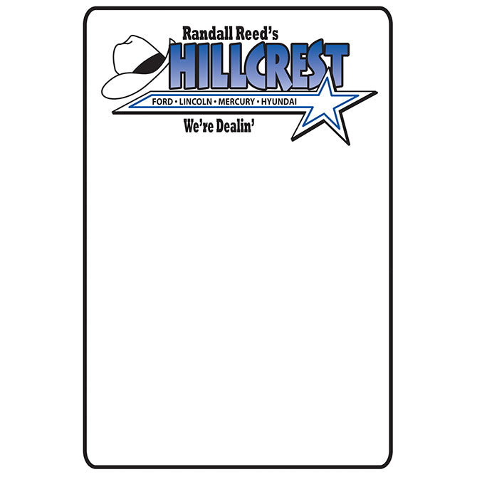 Static Cling Reminders - Custom - Long - For 5 in 1, ROLL of 500 - Independent Dealer Services
