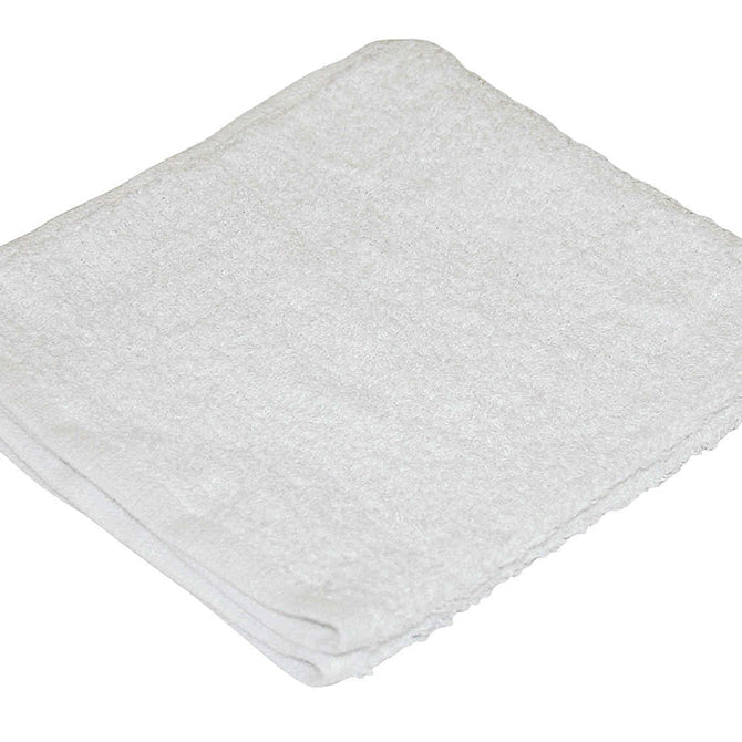 "Shop  Towels - White Terry Cloth - 14"" x 17"" - Qty 12 - Independent Dealer Services"