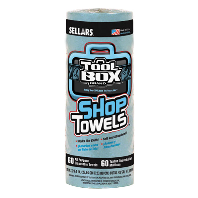 Shop Towels - Disposable - 60 Sheets/Roll - 12 Rolls/Case - Qty 12 - Independent Dealer Services