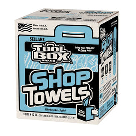 Shop Towels - Disposable - 200 Sheets/Box/ - 6 Boxes/Case - Qty 6 - Independent Dealer Services