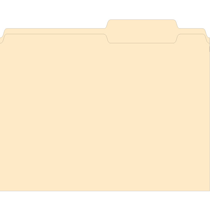 3 Tab File Folder - Plainty. 100 per Box - Independent Dealer Services