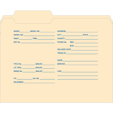 3 Tab File Folder - Imprintedty. 500 per Box - Independent Dealer Services