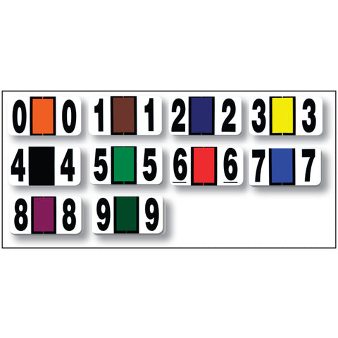 Full Set - Color Code ROLL Numbers (0-9) 10 Rolls - Independent Dealer Services