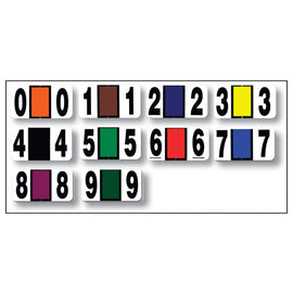 Full Set - Color Code RINGBOOK Numbers (0-9) 10 Packs - Independent Dealer Services