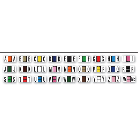 Full Set - Color Code RINGBOOK Alphabet - (A-Z Including Mc) 27 Packs - Independent Dealer Services