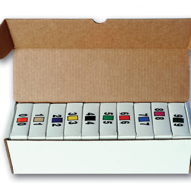 White Dispenser Box for Color Code Rolls, Holds 10 Rollsty. 1 - Independent Dealer Services