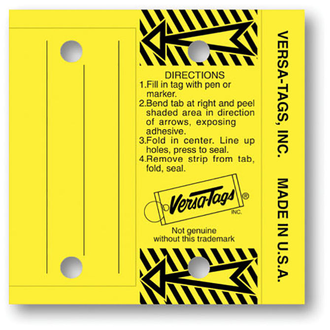 Versa Tag Multi Use Key Tag - #204 - 250 Per Box With Rings - Independent Dealer Services