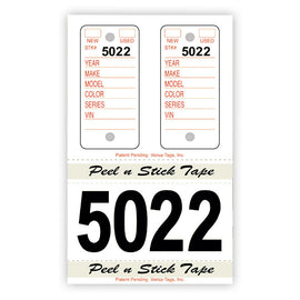 Poly Combo Tags - Large Number - #245 - Qty. 125 Per Box - Independent Dealer Services